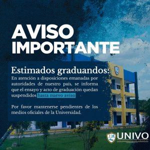 Información importante graduandos #UNIVO