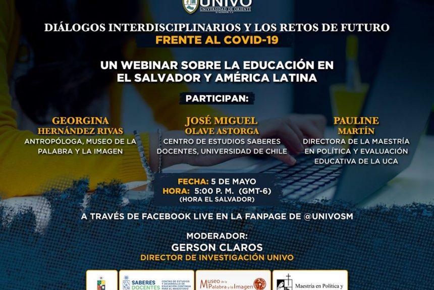"""Webinar """"La educación en El Salvador y América Latina""""."""