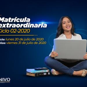 Matricula extraordinaria Ciclo 02-2020