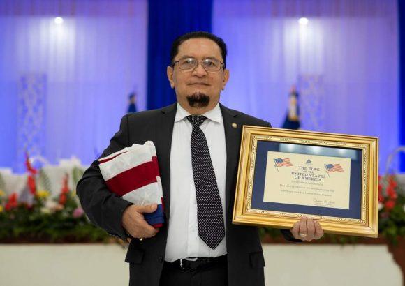 Ceremonia de reconocimiento al Dr. Pedro Fausto Arieta Vega, Rector de la Universidad de Oriente